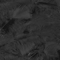 Veertjes zwart 15 cm
