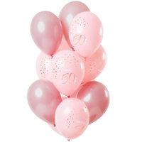 Ballonnen 50 jaar Elegant Lush Blush 12 stuks