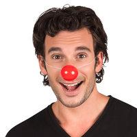 Clownsneus rood met elastiek plastic 6 stuks