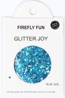 Glitters grof turquoise 5 gram