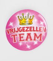 Button Roze 'Vrijgezellen Team' XL