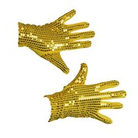 Handschoenen pailletten goud