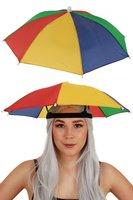 Hoofd paraplu rood-geel-groen-blauw