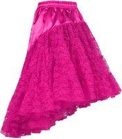 Luxe petticoat roze lang met kant