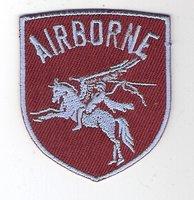 Airborne patch Pegasus schildvorm 6 cm