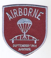 Airborne patch brug schildvorm 6 cm