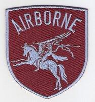 Airborne patch Pegasus schildvorm 8 cm