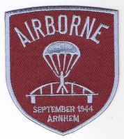 Airborne patch Brug schildvorm 8 cm