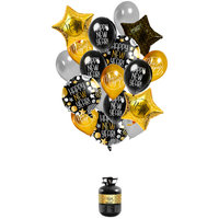 Helium set Happy new year incl. ballonnen en lint
