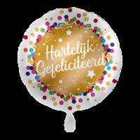 Folieballon Hartelijk gefeliciteerd 43 cm