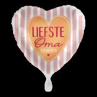 Folieballon Liefste oma ter wereld hartvorm