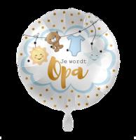 Folieballon Geboorte 'Je wordt opa' 43 cm