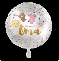 Folieballon Geboorte 'Je wordt oma' 43 cm