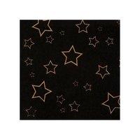 Servetten zwart met gouden sterren 12 stuks