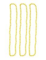 Parelketting geel 3 stuks