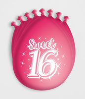 Sweet 16 ballonnen 8 stuks