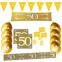 50 jaar jubileum feestpakket goud