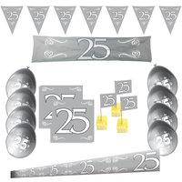 25 jaar jubileum feestpakket zilver