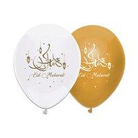 Eid Mubarak ballonnen goud 6 stuks