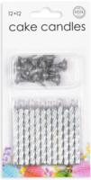 Taartkaarsjes zilver 12 stuks