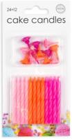 Taartkaarsjes roze-oranje 24 stuks