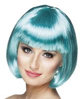 Cabaret bobline pruik turquoise