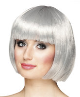Cabaret bobline pruik silver grey