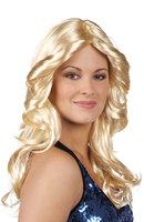 Dames pruik disco doll blond