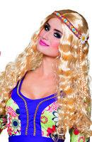 Dames pruik hippie met haarband