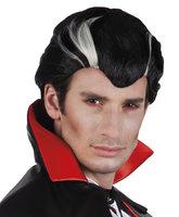 Pruik Dracula, zwart-wit