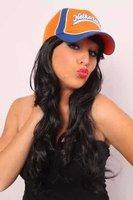 Baseball cap oranje met blauw Netherlands