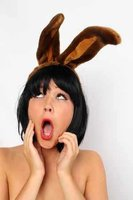 Hoofddiadeem konijnenoren bruin