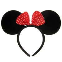 Minnie Mouse oortjes met strik