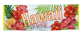 Banner Hawaii party 74 x 220 cm