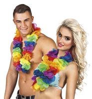 Hawaii krans regenboog XL