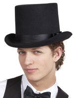 Hoge hoed zwart vilt luxe