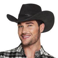 Cowboyhoed Wyoming zware vilt kwaliteit zwart