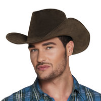 Cowboyhoed Wyoming zware vilt kwaliteit bruin