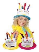 Hoed Happy Birthday 55-59cm met kaarsen
