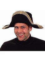 Napoleon steek luxe zwart met goudgalon