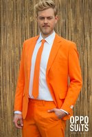 Opposuits oranje maatpak kostuum