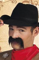 Snor cowboy zwart zelfklevend