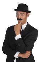 Snor gentleman zwart zelfklevend