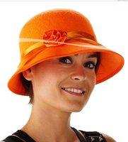 Beatrix hoed oranje met rozet