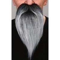 Snor met baard (lengte ca. 18 cm) grijs zelfklevend
