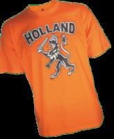Kinder t-shirt oranje met opdruk 'Holland Leeuw'