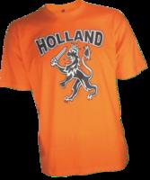 T-shirt oranje met opdruk: 'Holland Leeuw'