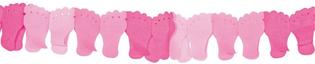 Slinger papier voetjes roze 6 meter