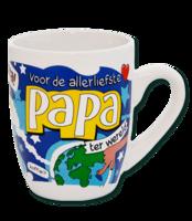 Cartoon mok 'Voor de Allerliefste papa' OP=OP