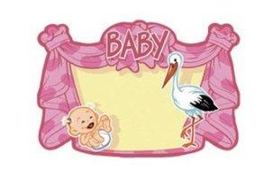 Huldeschild geboorte baby meisje OP=OP